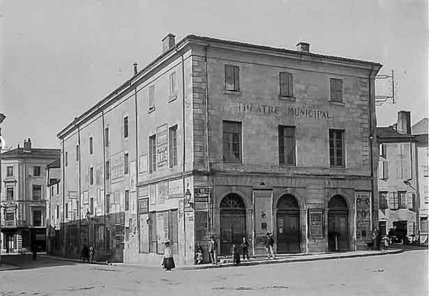 Théâtre municipal Moncorny en 1900