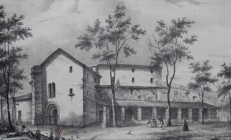 lErmitage-Saint-Vincent-et-lancienne-chapelles-des-Carmes-à-Agen-vers-1800