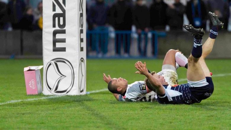 Agen-Toulouse placage sans ballon qui aurait mérité un essai de pénalité