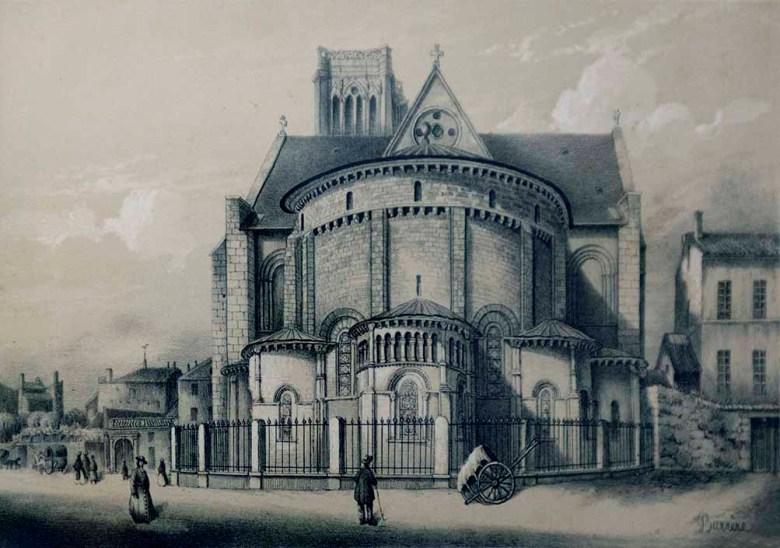 Cathédrale Saint-Caprais Abside, après la restauration de 1840