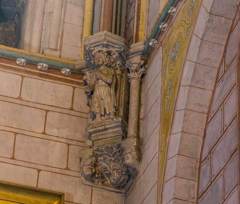 Cathédrale Saint-Caprais, Croisillon Nord - Retombée des Ogives Cul-de-Lampe Saint-Joseph