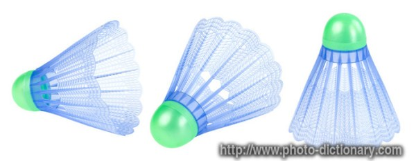 badminton shuttlecock - photo/picture definition at Photo ...