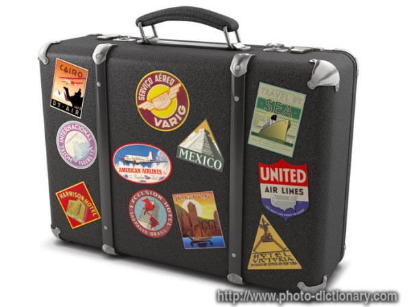 suitcase - photo/picture definition at Photo Dictionary ...
