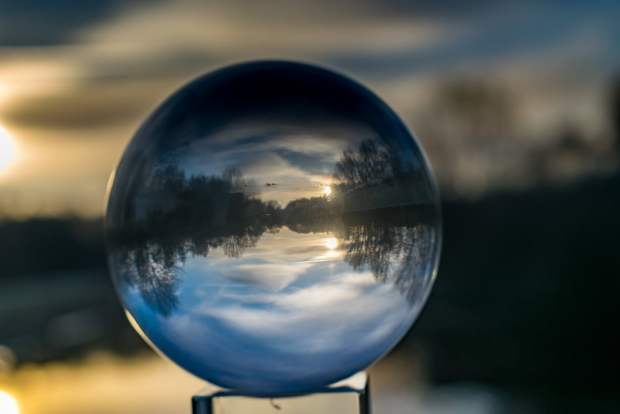 glass ball photography landscape