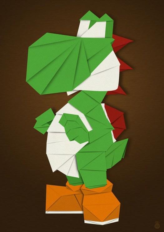 yoshi origami | Tutorial Origami Handmade