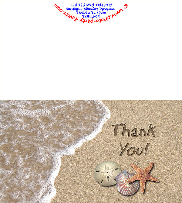 Beach Free Printable Thank You Card