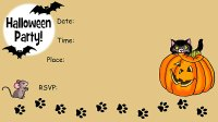 free printable childrens halloween invitations