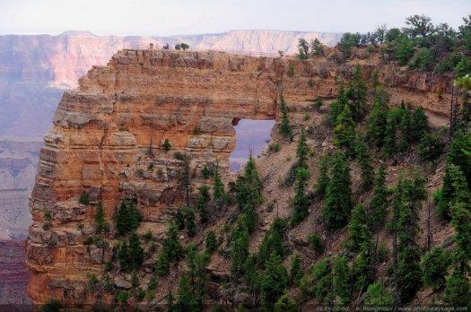 Angel's Window (Cape Royal / North Rim), Grand Canyon National Park, Arizona, USA