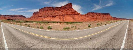 Vue panoramique de la route UT 128 Moab, Utah, USA