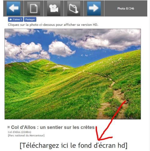 Emplacement du lien pour télécharger une image HD pour arrière plan