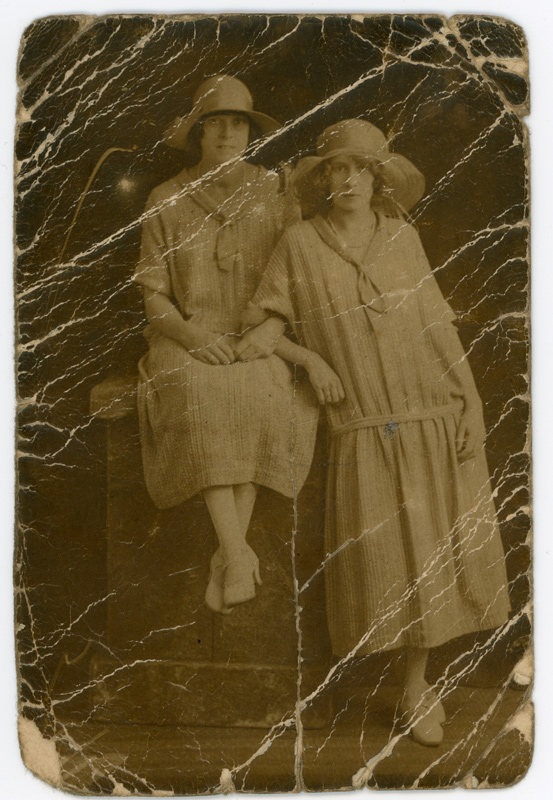 Creased Photograph before Restoration