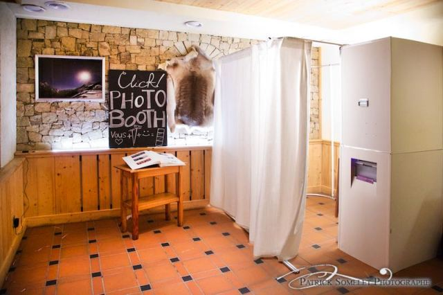 Photobooth aux Deux-Alpes, Isère.