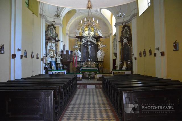 Wnętrze Kościoła Św. Krzyża w Nowej Rudzie przy ulicy Cmentarnej - atrakcje i zabytki Nowej Rudy