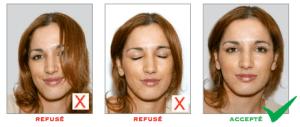 Format accepté photo carte identité