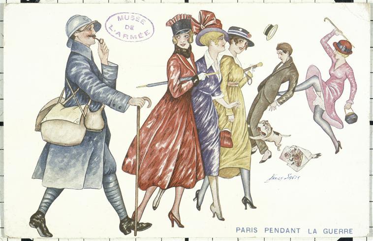 Paris pendant la guerre. Sager Xavier (1870-1930). Paris, musée de l'Armée