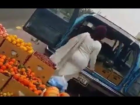 بالفيديو كويتية تسبب في أزمة مرورية