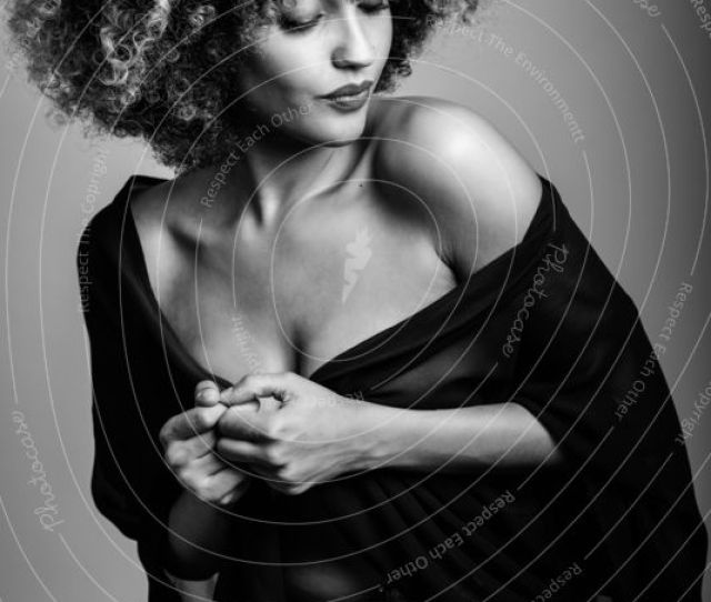 Sexy Black Woman With Afro Hairstyle A Royalty Free Stock Photo From Photocase