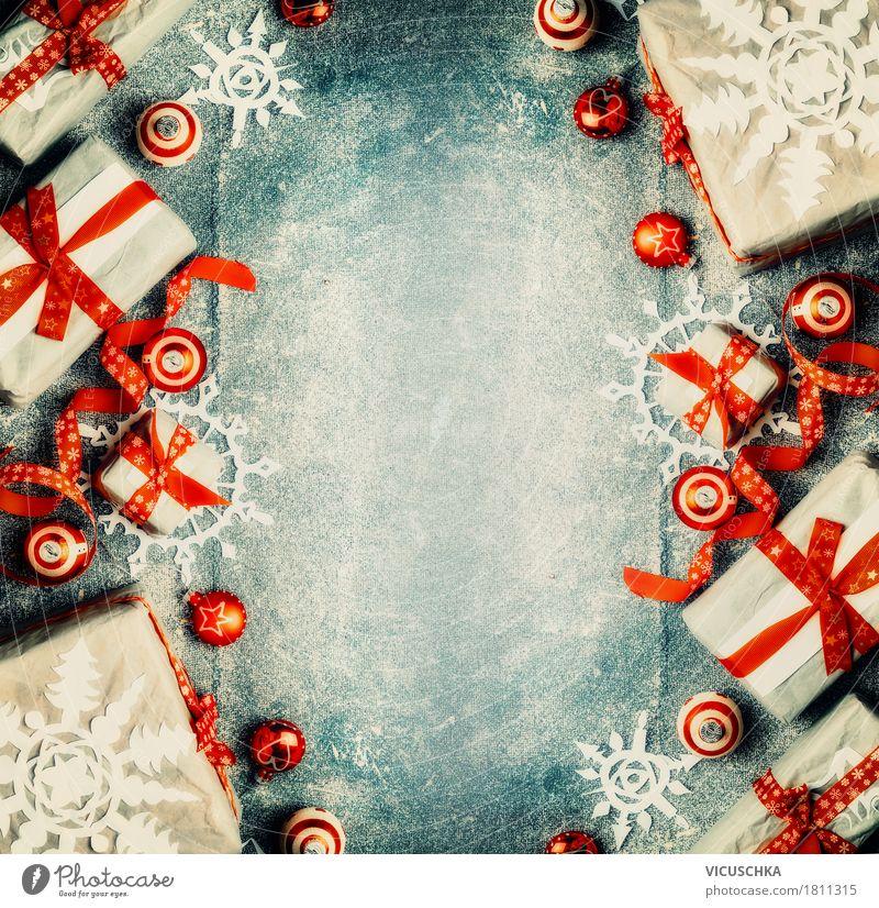 Weihnachten Hintergrund Mit Geschenke Ein Lizenzfreies