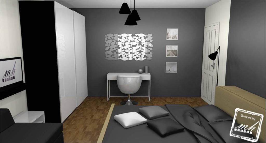 idee deco chambre adulte gris blanc photo deco