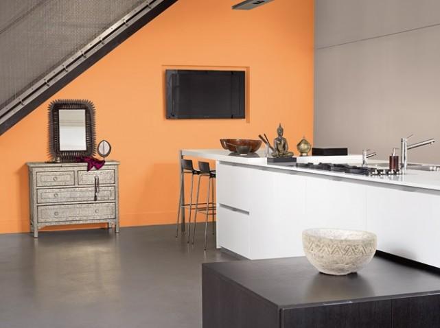 Deco Chambre Peinture Orange   Kapokto