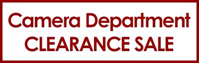 Camera Clearance Sale