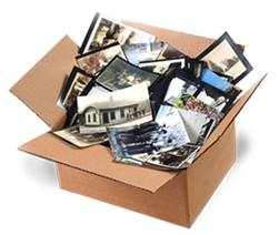 shoebox of photos