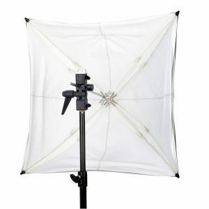 "ADW 30"" White Adjustable Umbrella"