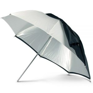 "RUT 30"" White Convertible Umbrella"