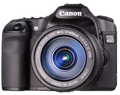 canon d40 face