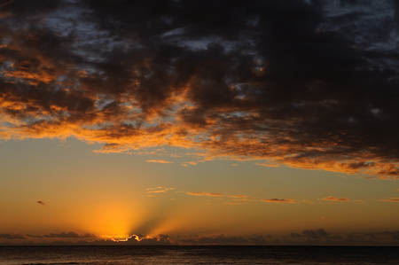 beau comme un coucher de soleil