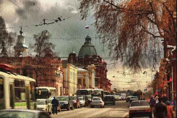 Фото Томск,проспект Ленина.. - фотограф Любовь Селиванова ...