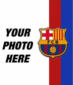 Put The Colors And Emblem Of Barcelona In Your Picture And