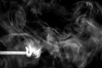 feuer und rauch (sw) - PHOTOGALERIE WIESBADEN - flamme rauch formen