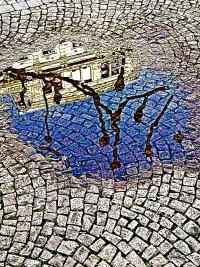 pfütze - wilhelmstraße - intensiv (photo art edition) - PHOTOGALERIE WIESBADEN - wiesbaden - impressionen 2