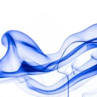 rauch 10 weiß blau - PHOTOGALERIE WIESBADEN - flamme rauch formen