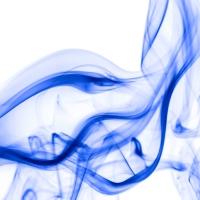 rauch 5 weiß blau - PHOTOGALERIE WIESBADEN - flamme rauch formen