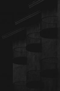 runde balkone - PHOTOGALERIE WIESBADEN - dunkel-schwarz