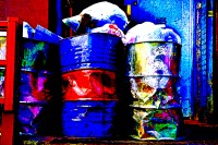 trash cans (photo art edition) - PHOTOGALERIE WIESBADEN - new york city - fascensation