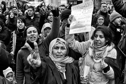 Angry women protest against the Gaza War 2009