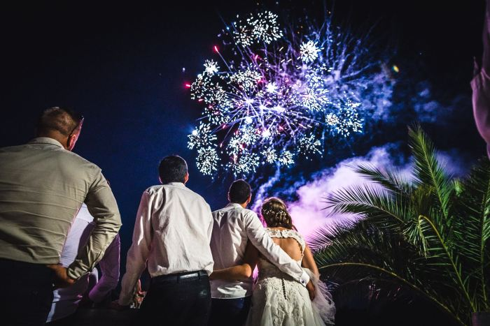 Animation mariage feux artifice