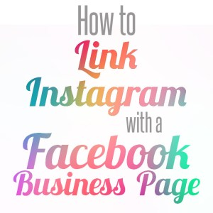 link instagram with facebook page