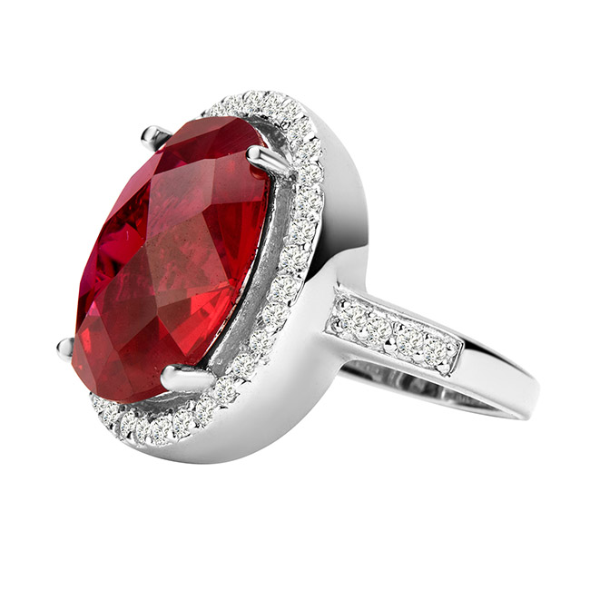 US jewelry photographer ruby ring side