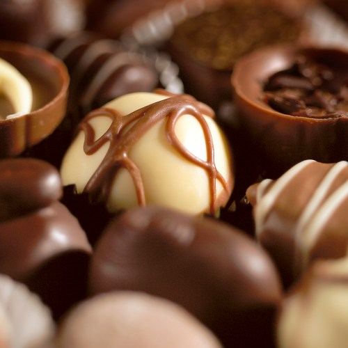 Close up of chocolate selection - Food and drink photography