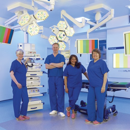 Olympus Keymed Operating theatre team shot - People photography