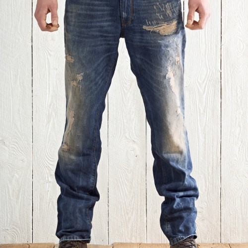 Hugo Boss denim jeans on male model - product photography