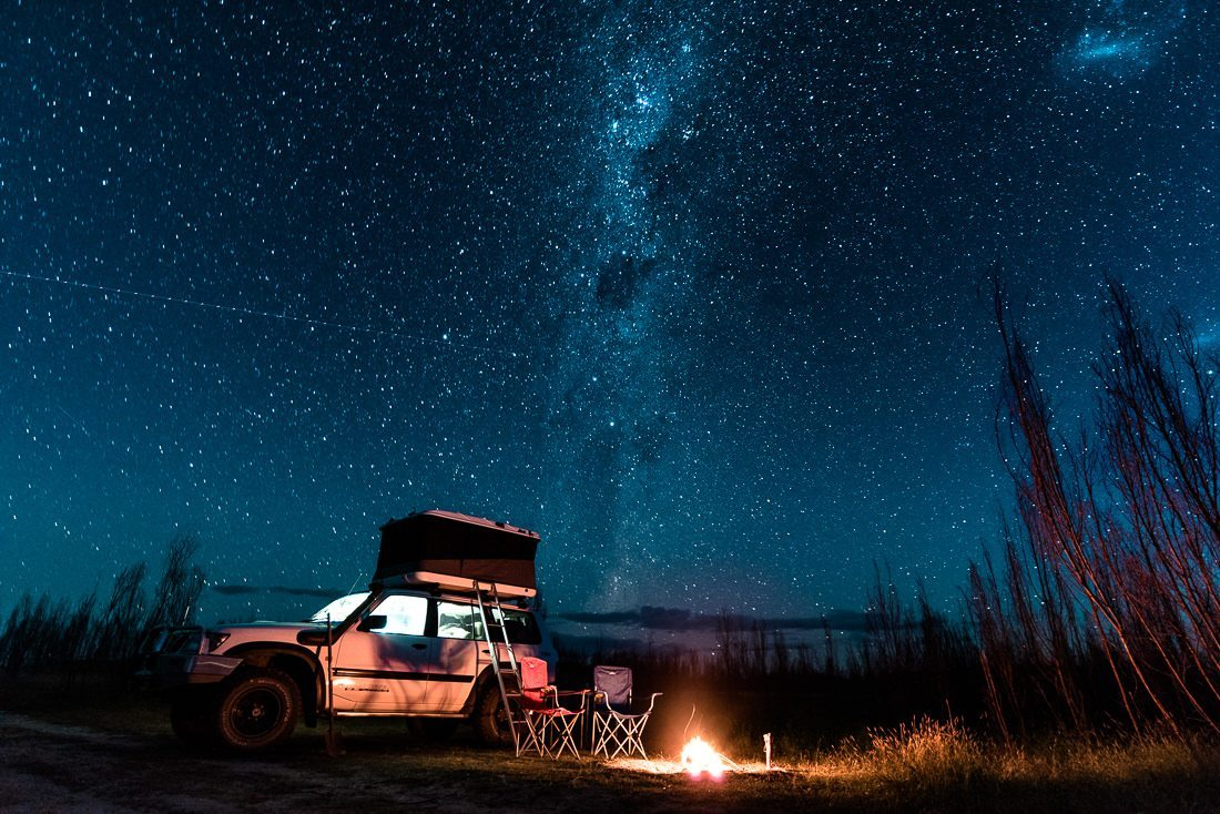 outback night sky and milky way New South Wales - Australia