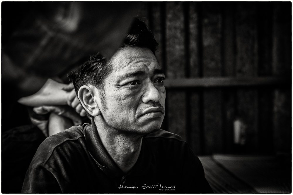 off duty worker at hanoi steel works vietnam ©Hamish Scott-Brown