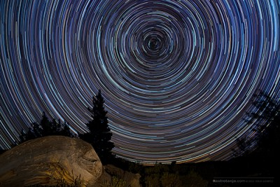 Star colour in star trails