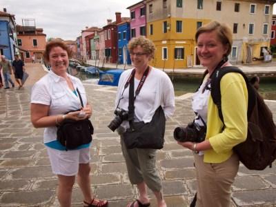 JoBeth, Ann Marie & Amanda in Burano, Italy