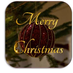 Photo Coaster - Merry Christmas